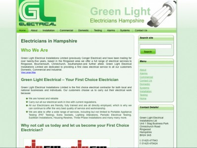 website design for electricians
