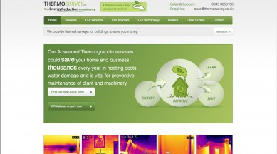 Thermal Survey Web Design | WordPress